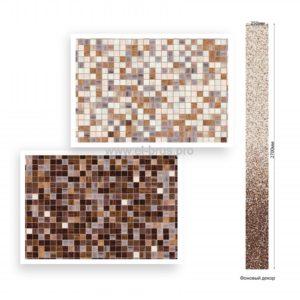 Панель ПВХ ламинированная Мозаика Коричневая ВЕК 2700х250х9мм