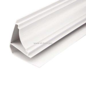 Плинтус потолочный белый глянцевый Ламини ИДЕАЛ 3000мм