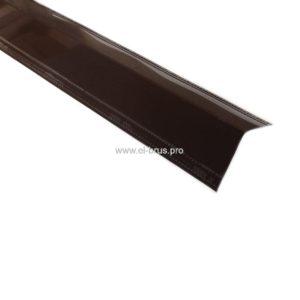Конек 150х150мм коричневый L-2000мм
