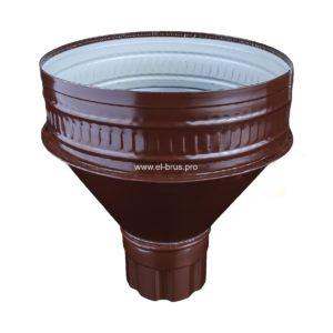 Воронка водосборная Ø250х95мм коричневый