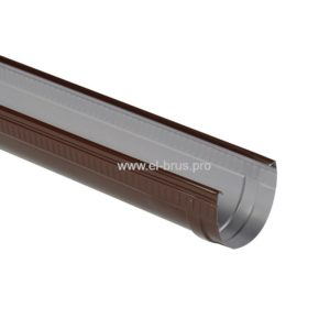 Жёлоб водосточный Ø125мм коричневый L-2000мм