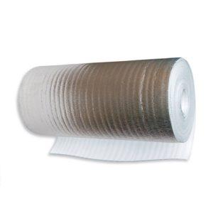 Полиэтилен вспененный ТЕПОФОЛ Теплый Пол 1,2х25м 3мм металлизированный
