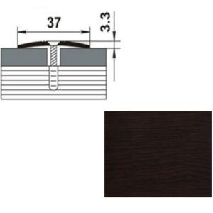 Профиль стыкоперекрывающий ПС03.1350.095 ДУБ ВЕНГЕ 37мм