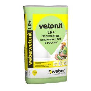 Шпаклевка финишная полимерная белая WEBER VETONIT LR+ 25кг