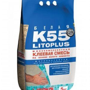 Клеевая смесь белая LITOKOL Litoplus K55 5кг