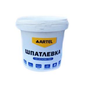 Шпатлевка для внутренних работ на основе ПВА АРТЕЛЬ  1,5кг