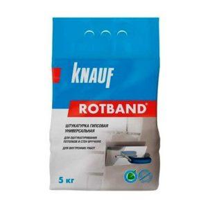 Штукатурка гипсовая серая KNAUF Ротбанд 5кг