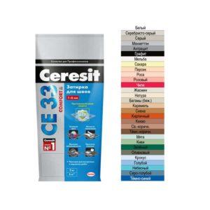 Затирка для швов до 6мм серебристо-серый CERESIT Comfort  СЕ33 2кг