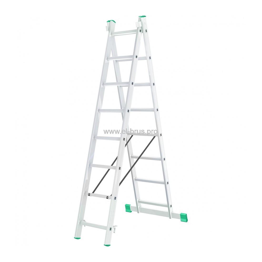 Лестница-стремянка 2- 8 двухсекционная LWI