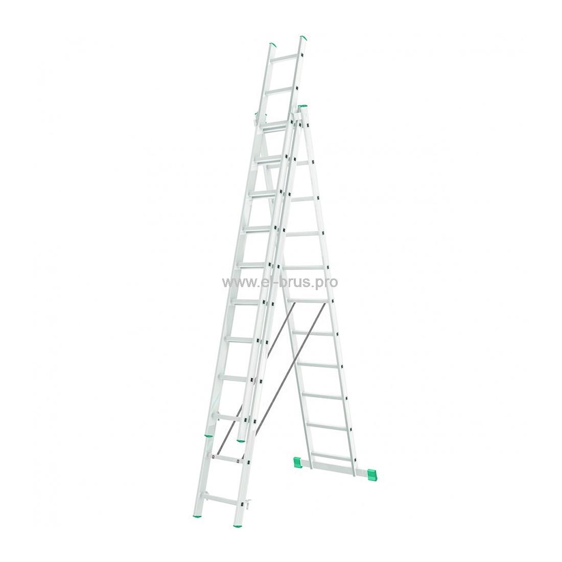 Лестница-стремянка 3-11 трехсекционная LWI