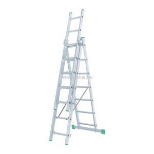 Лестница-стремянка 3- 7 трехсекционная LWI