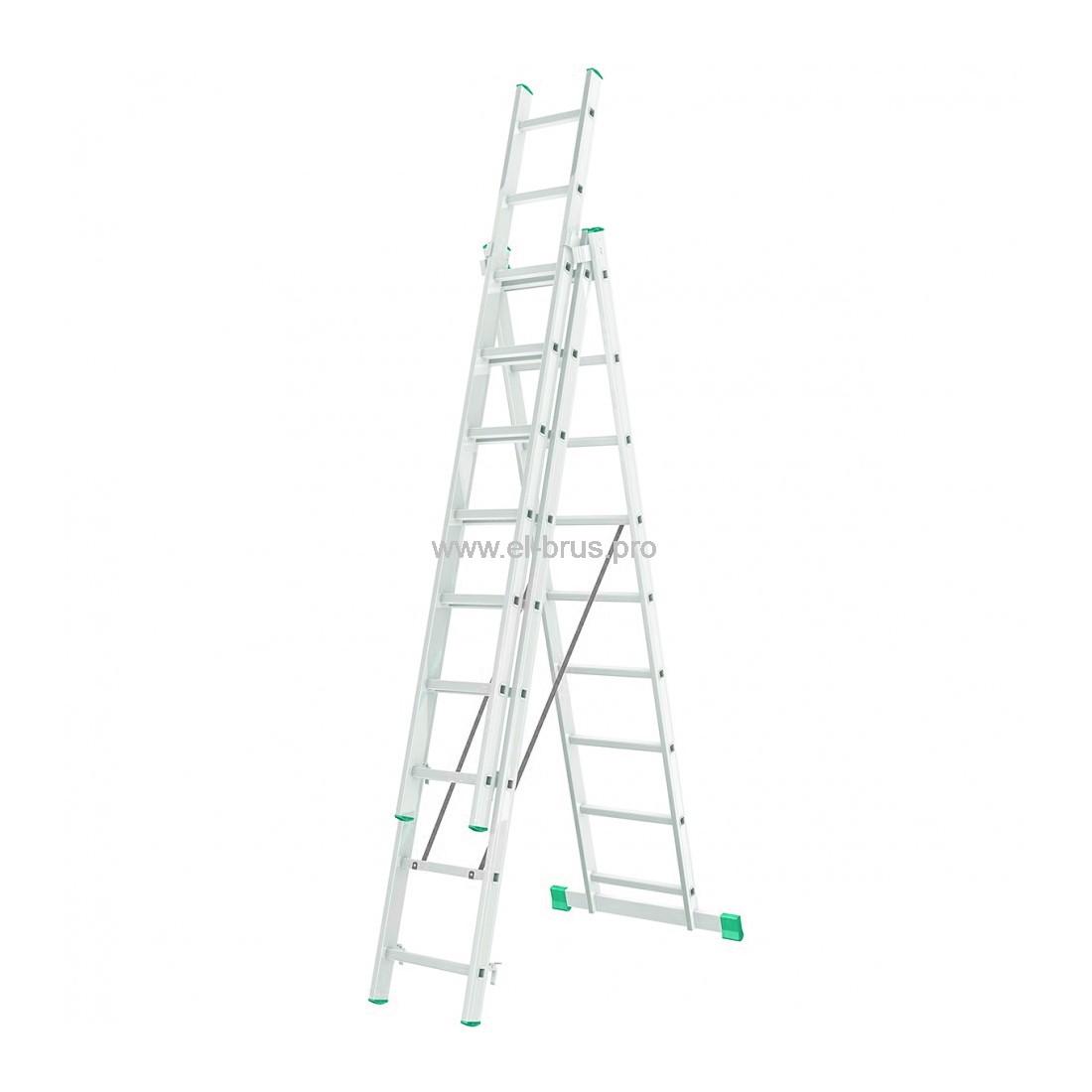 Лестница-стремянка 3- 9 трехсекционная LWI