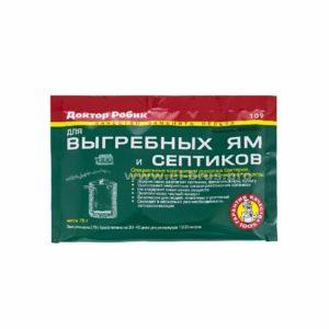 Очиститель для выгребных ям и септиков ДОКТОР РОБИК 109 75г