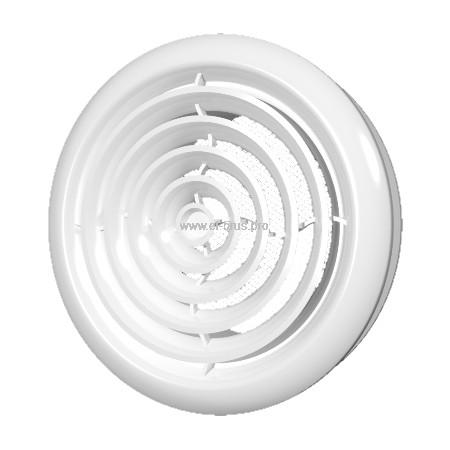 Диффузор приточно-вытяжной со стопорным кольцом и фланцем Ø100мм ERA 10DK