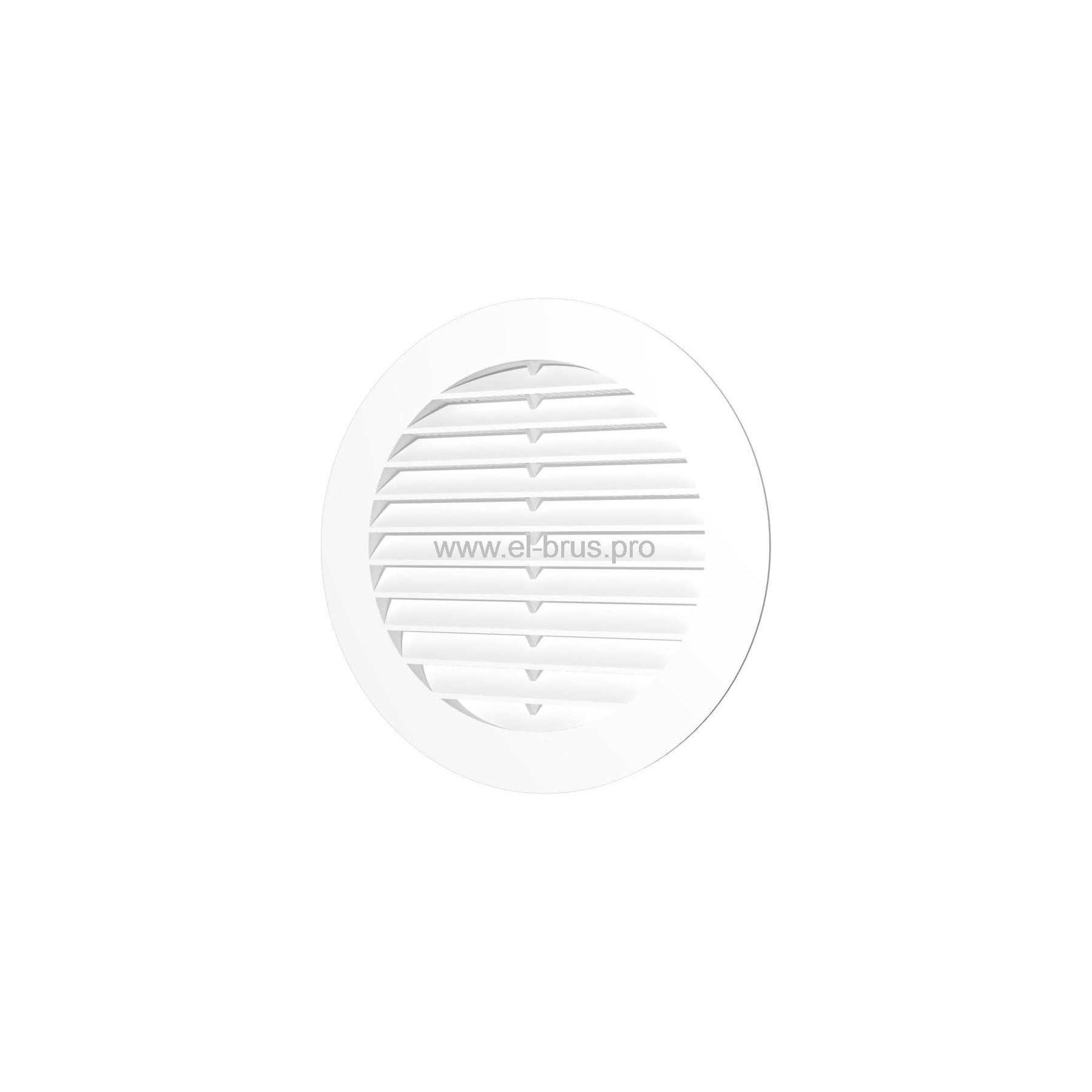 Решетка вент. круглая с сеткой Ø130мм и фланцем Ø100мм ERA 10РКС