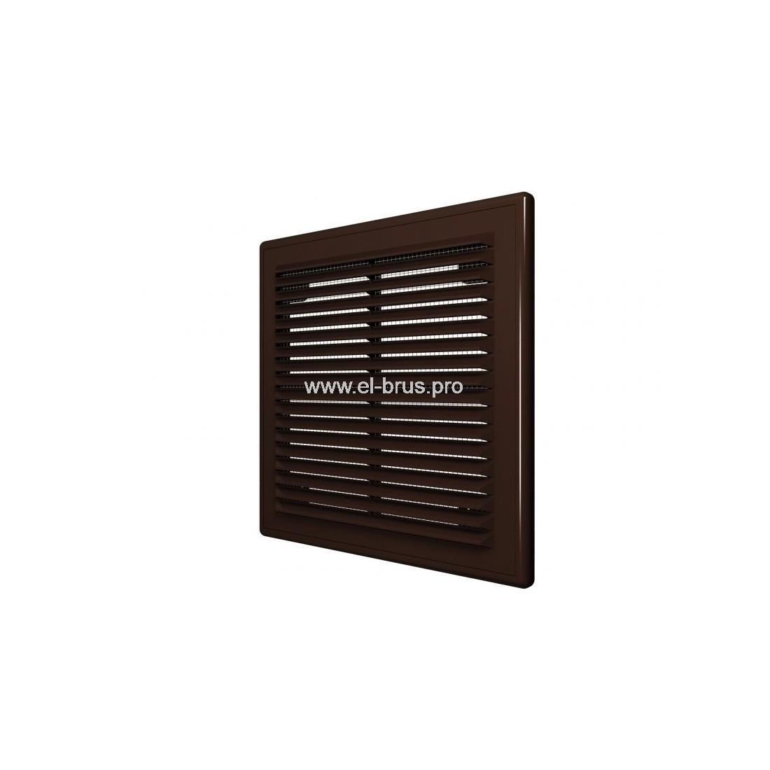 Решетка вент. разъемная с сеткой 150х150мм коричневая ERA 1515Р
