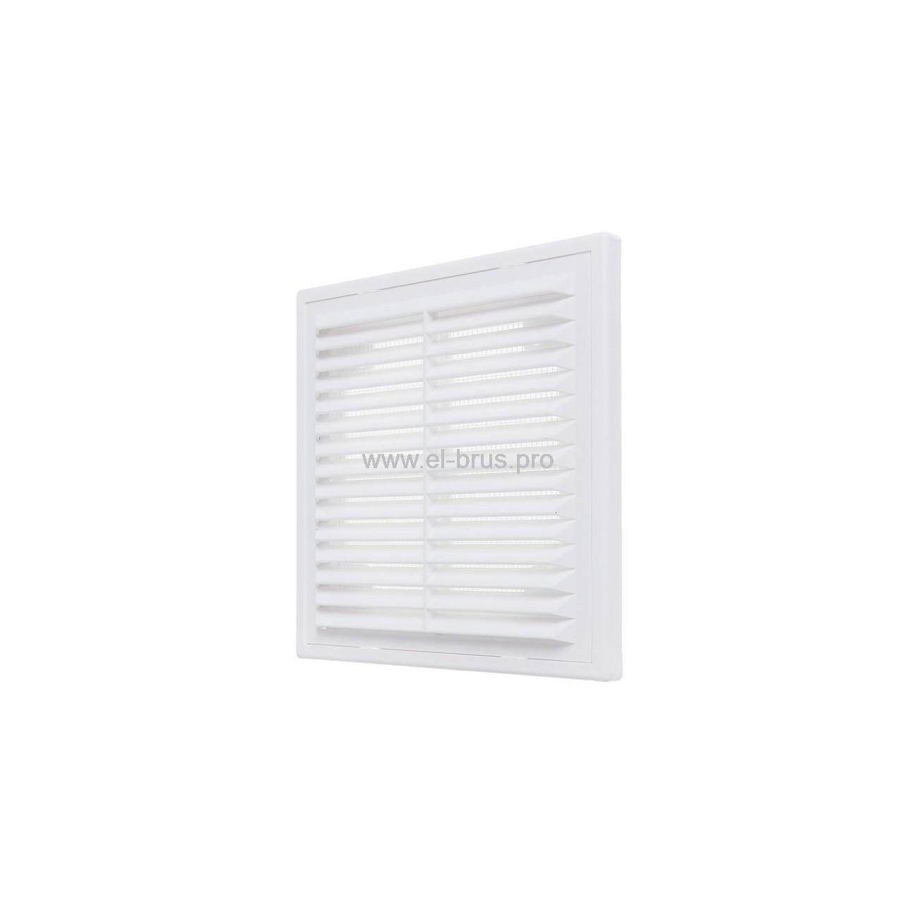 Решетка вент. разъемная с сеткой 150х150мм белая ERA 1515Р