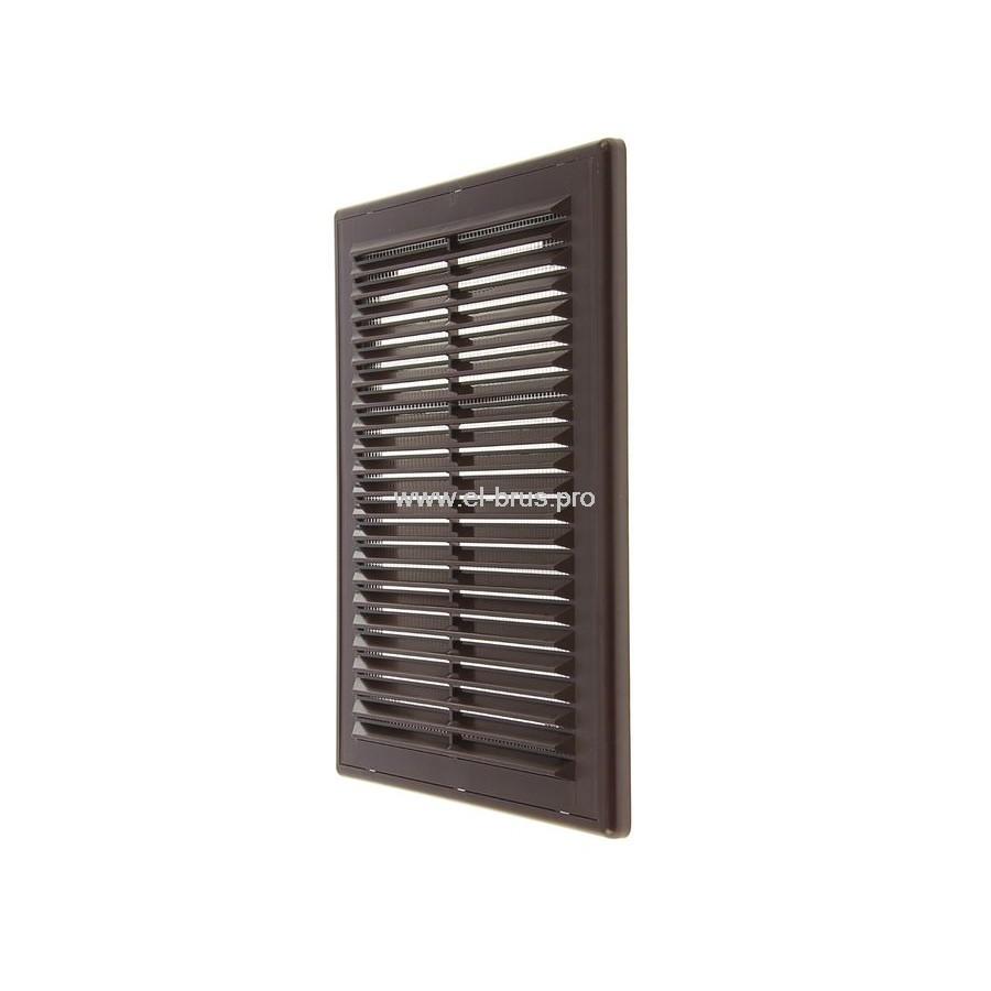 Решетка вент. разъемная с сеткой 183х253мм коричневая ERA 1825Р