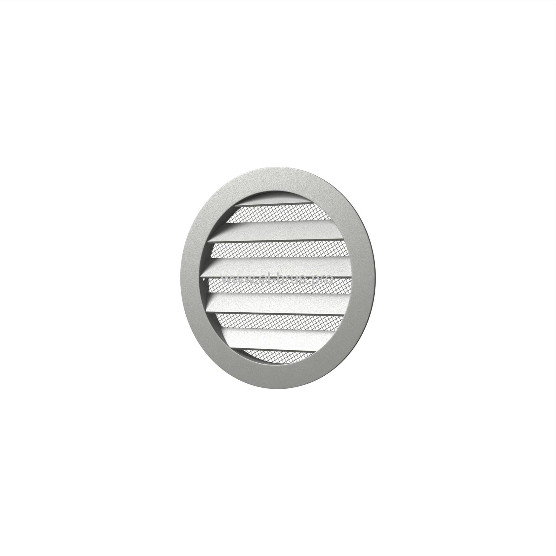 Решетка вент. круглая с сеткой Ø125мм и фланцем Ø100мм ERA 10РКМ