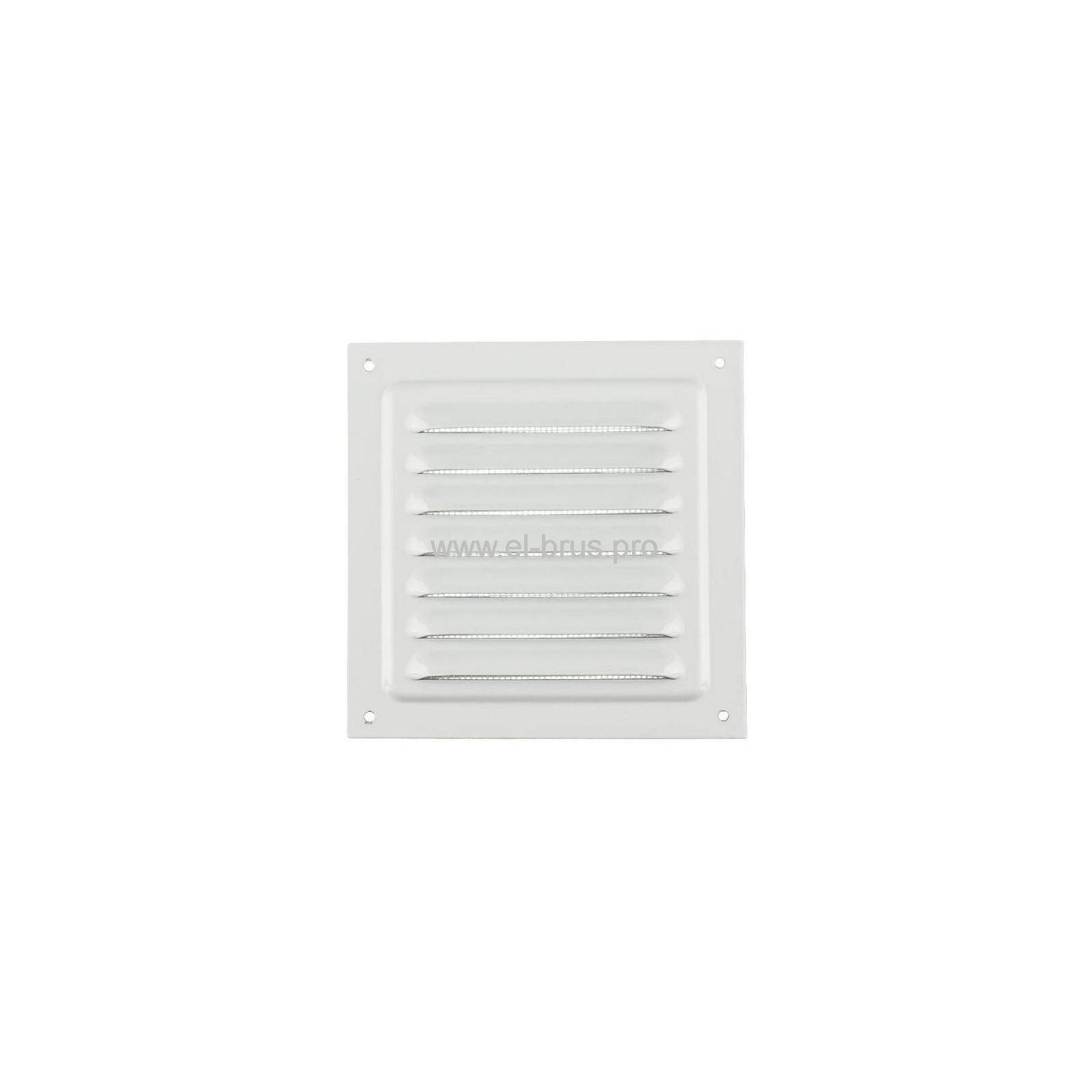 Решетка вент. с сеткой 125х125мм сталь белая ERA 1212МЭ