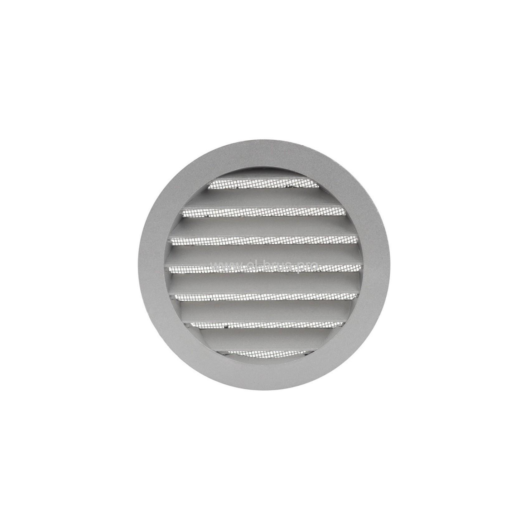 Решетка вент. круглая с сеткой Ø150мм и фланцем Ø125мм ERA 12,5РКМ