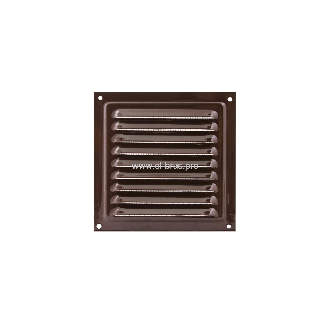 Решетка вент. с сеткой 150х150мм сталь коричневая ERA 1515МЭ