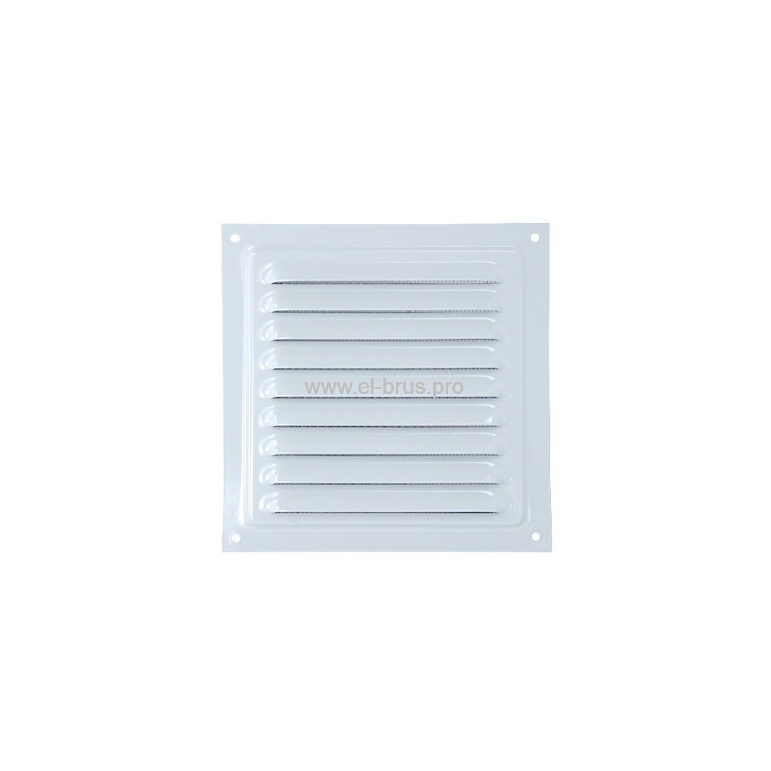 Решетка вент. с сеткой 150х150мм сталь белая VIENTO РМ1515