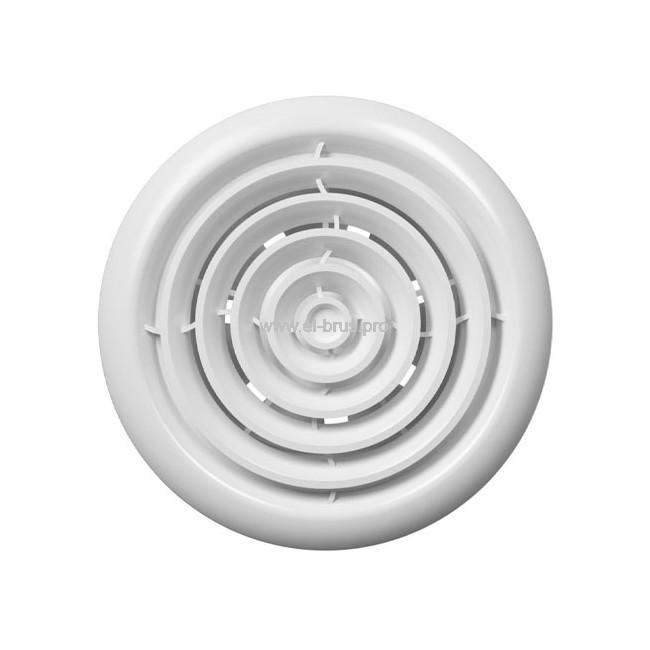 Вентилятор осевой канальный вытяжной с круглой решеткой и двигателем ERA Flow4 BB Ø100мм