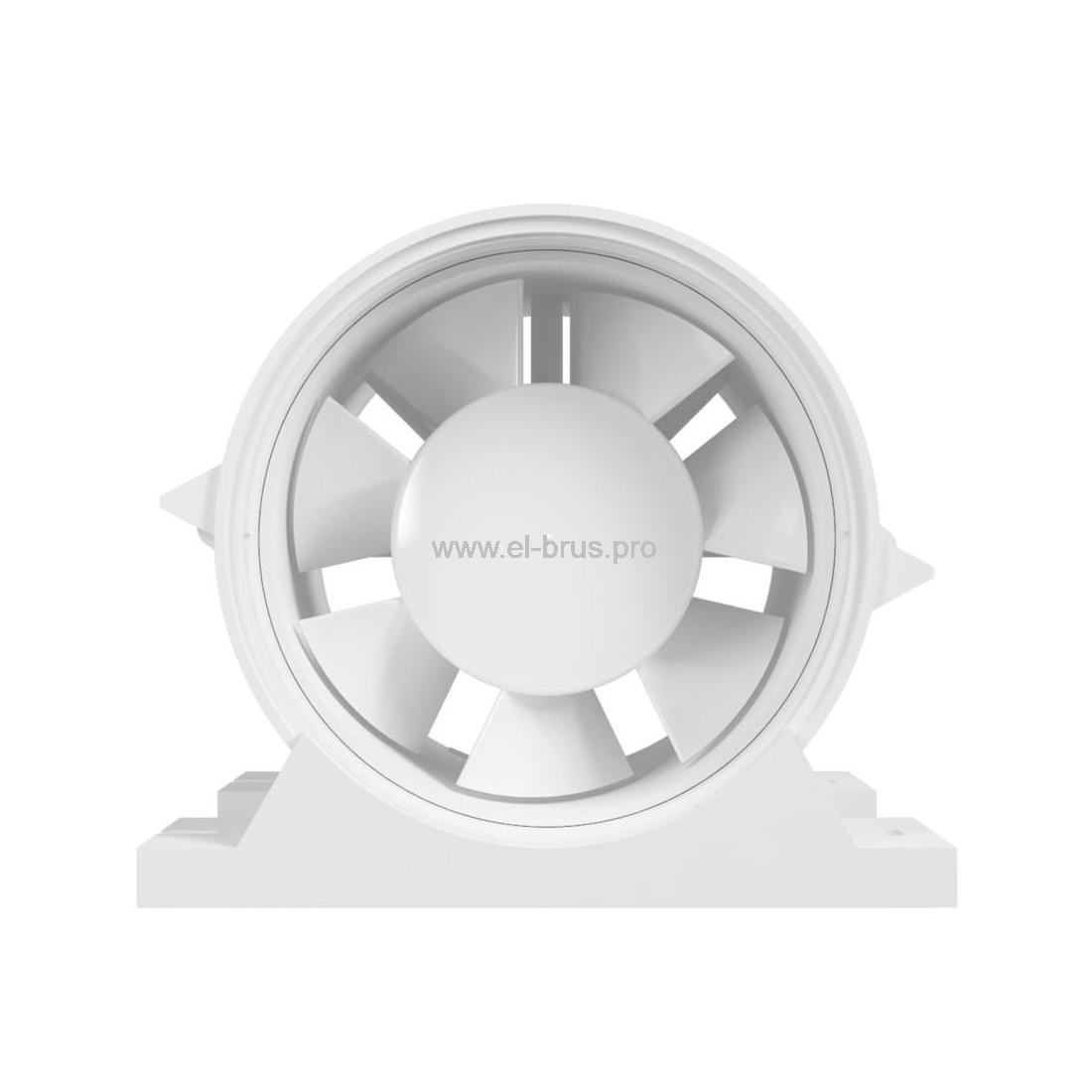 Вентилятор осевой канальный приточно-вытяжной с крепежным комплектом ERA PRO 4 Ø100мм